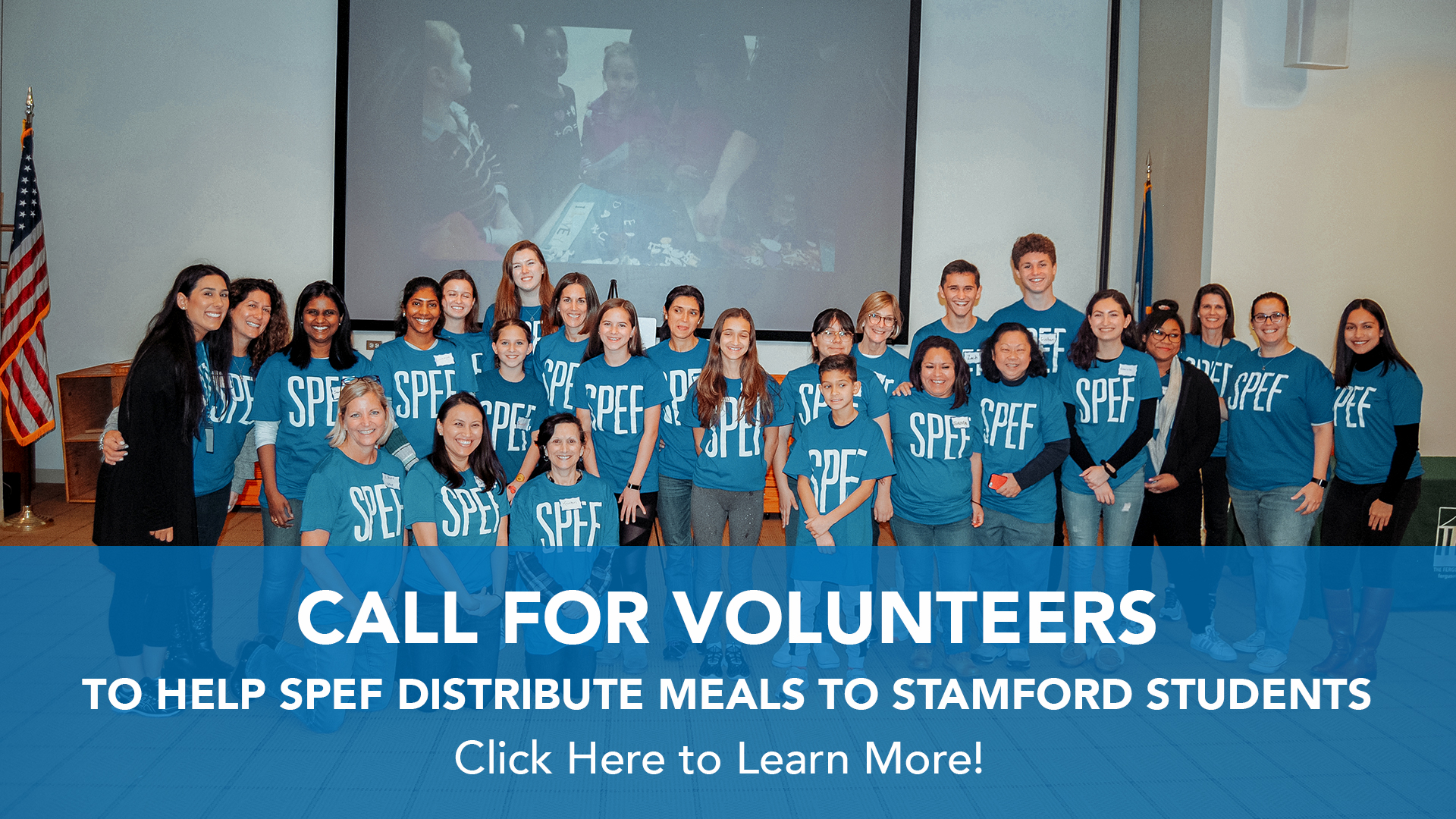 Click here to volunteer to help SPEF distribute meals to Stamford Students!